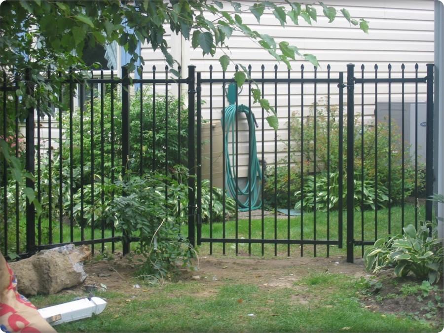 Wrought Iron Fence Aristocrat Gate Black