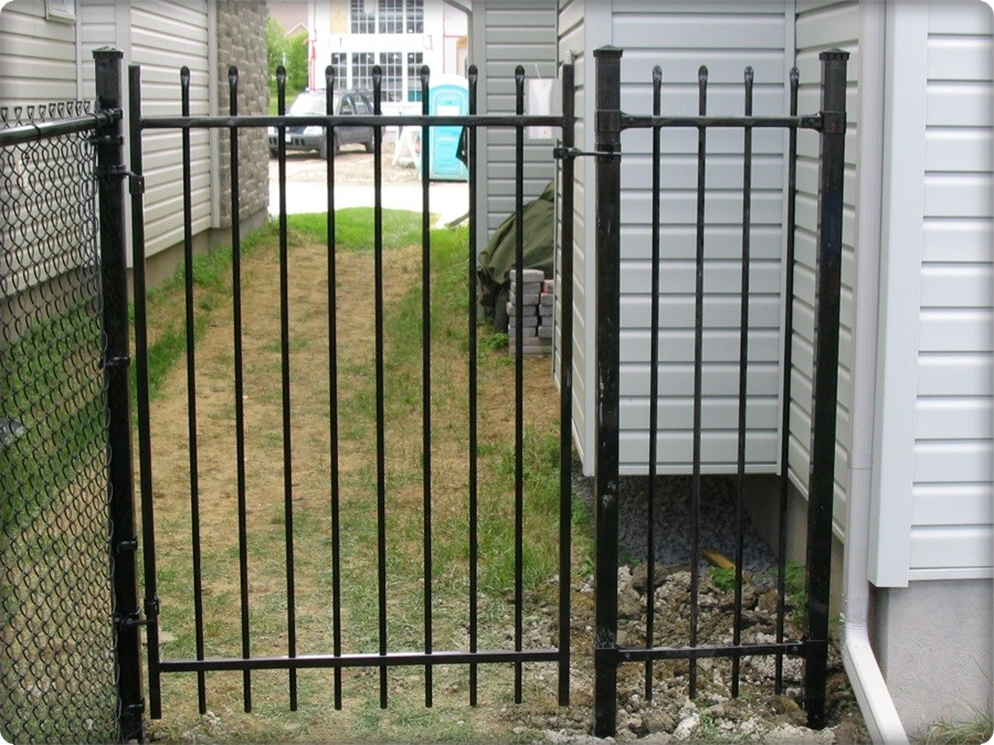 Wrought Iron Fence Aristocrat Gate Black